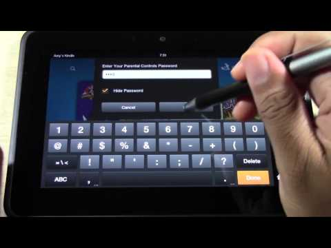 Kindle Fire HD: Kindle Free Time (Setting Advanced Parental Controls for Kids) | H2TechVideos
