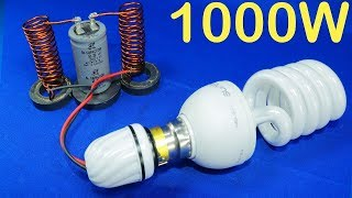 Free Electricity Generator 1000W cheap electricity Energy Light Bulb Science Experiment new