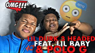 Lil Dirk - 3 Headed Goat feat. Lil Baby & Polo G(Official Audio)**REACTION**