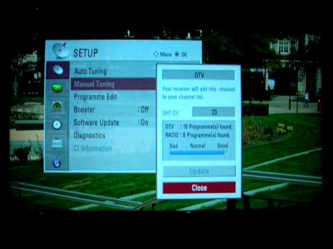 LG TV Signal Diagnostics, factory reset and manual tune  - Post Digital Switch-over