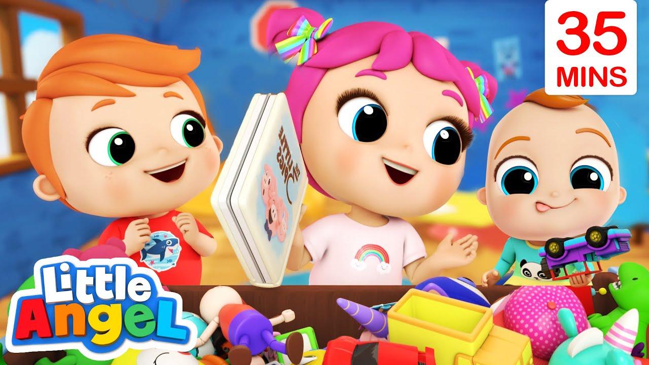 Time To Clean Up | Good Habits + More Little Angel Kids Songs & Nursery Rhymes