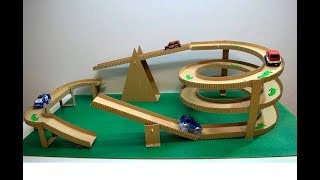 How to make Magic track with magic cars out of cardboard