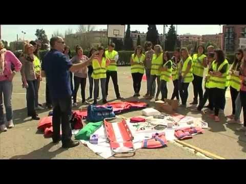 Simulacro accidente bus Ceu-UCH   Cecova TV