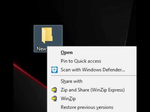 how to change the new folders name