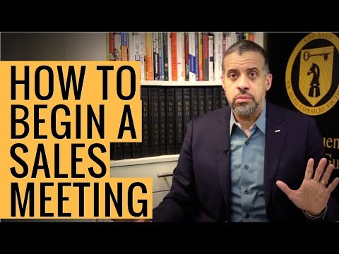 How to Start a Sales Meeting