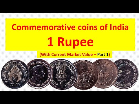 Commemorative coins of India with current market value - 1 Rupee - Part 1