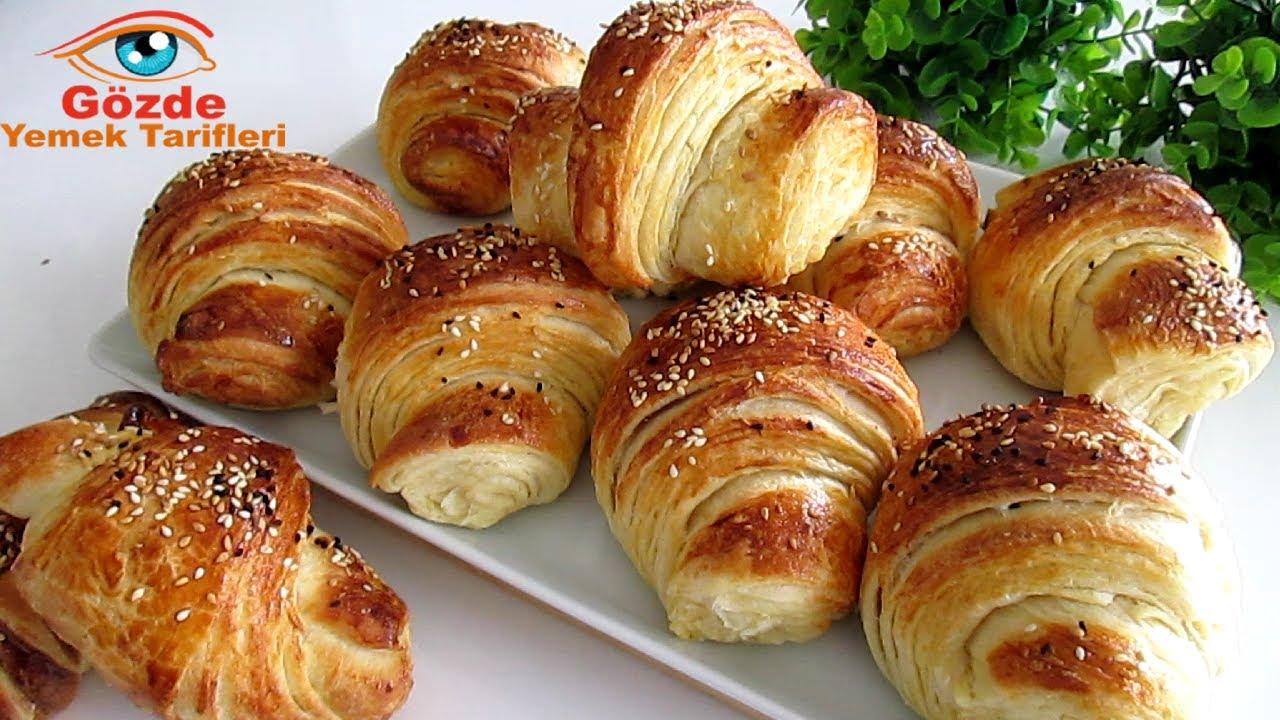 ÇOK FARKLI KAT KAT MÜTHİŞ KABARDI❗ÇITIR ÇITIR KATMER KRUVASAN/Schnellste Croissant Rezept/lecker
