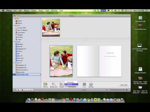 Mac Tips - How To Make A Personalised Christmas Card In Iphoto In Under A Minute