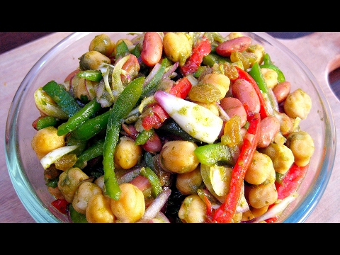 Healthy Bean Salad Recipe In Hindi - A Super Nutritious Salad Recipe In Hindi - बीन सलाद रेसिपी