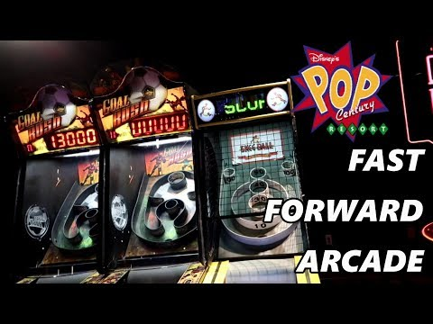Fast Forward Arcade at Pop Century Resort | Disney World Vlog September 2017 Day 5 Part 5