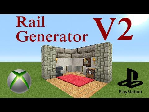 Minecraft Tutorial : Rail Generator V2