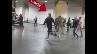 Download Connor McGregor Throws Dolly At Michael Chiesa's Bus Video