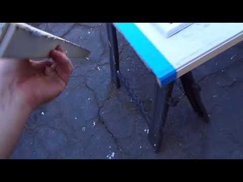 How to trim a Pedestrian Metal Door