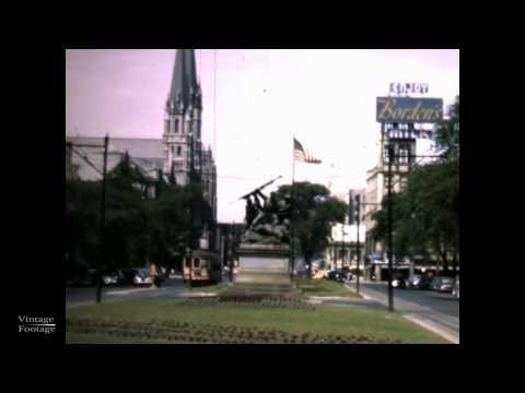 Milwaukee, 1951 footage