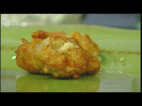 Mass Appeal Beer Batter Clam Fritters with Orange Spinach Salad