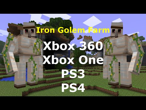 How to make a gold golem in minecraft ps3 -