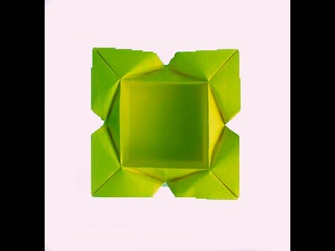 Easy Origami plate (designer Carlos Aguilar). Gift box. Ideas for Christmas
