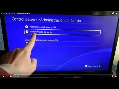 (Tutorial 2018) Control Parental en PS4
