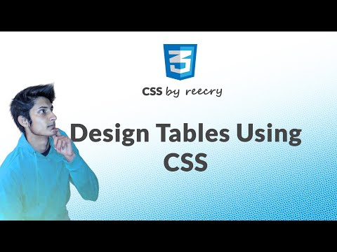 How to Design HTML table using CSS in hindi From Basic to Advance Tables