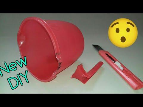 Best use of waste plastic mug / Waste material craft / Best craft idea  (76)