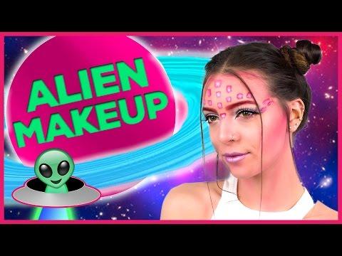 Tumblr Alien Halloween Makeup Tutorial