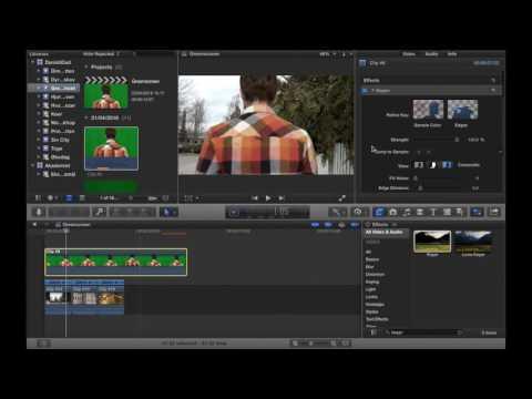 Hvordan man arbejder med greenscreen i Final Cut Pro X