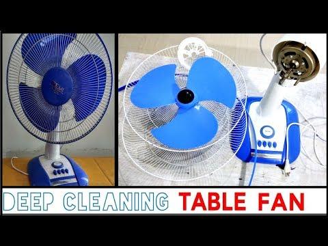 TABLE FAN CLEANING || HOW I DEEP CLEAN MY DUSTY TABLE FAN