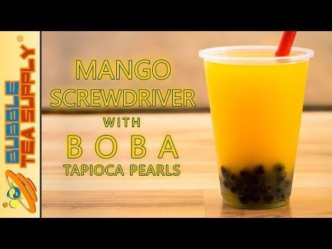 How to Make Mango Screwdriver with Boba Tapioca Pearls