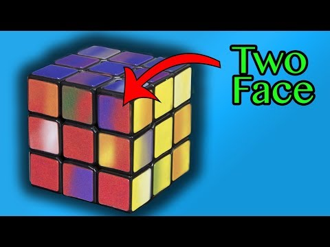 World's Hardest Rubik's Cube to Solve - Two Face Cube