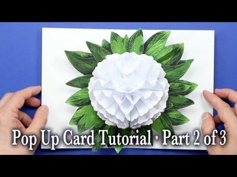 Flower Pop Up Card Tutorial Part 2 of 3