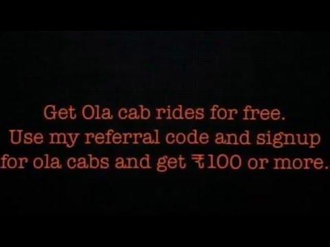 Get free Ola cab rides..