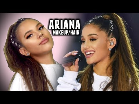 ARIANA GRANDE MAKEUP AND HAIR TUTORIAL ♡ One Love Concert! Celebrity Transformation 2017