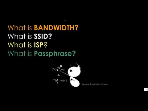 What are: Bandwidth, SSID, ISP,PassPhrase