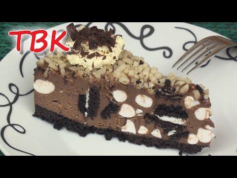 Nutella Oreo Rocky Road Cheesecake Recipe No-Bake ♥