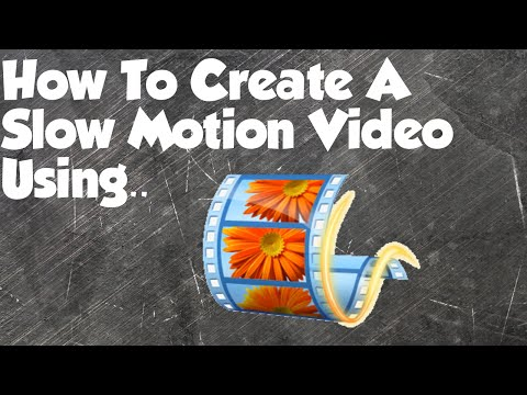 How To Create A Slow Motion Video Using Movie Maker! - Tutorial