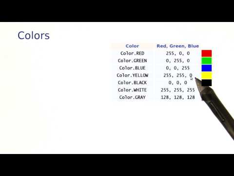 Colors - Intro to Java Programming