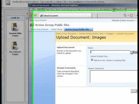 SharePoint Shepherd 2007 - Add An Image To A Content Page
