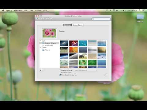 How to Change Your Desktop Screen Background on an Apple MacBook Pro