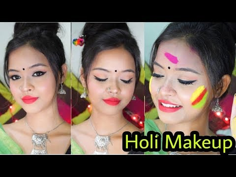 Dol Purnima / Holi Makeup Look || Traditional Bengali Makeup || Sayantani Some || India Kolkata