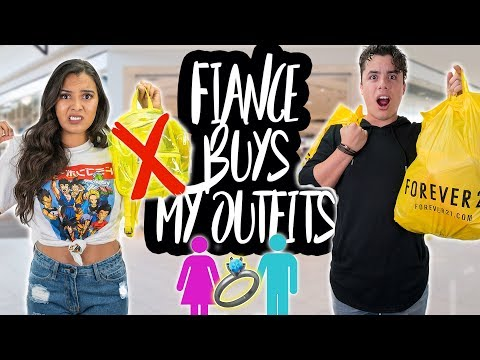 My FIANCÉ Buys My Outfits! OMG! Shopping Challenge 2017! Natalies Outlet