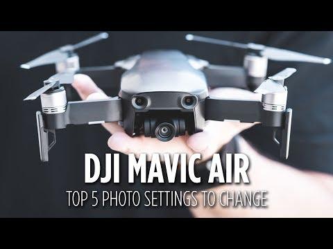 DJI Mavic Air Top 5 Photo Settings to Change