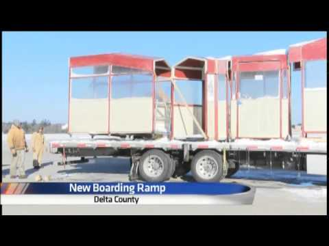 Delta County Airport adds covered boarding ramp