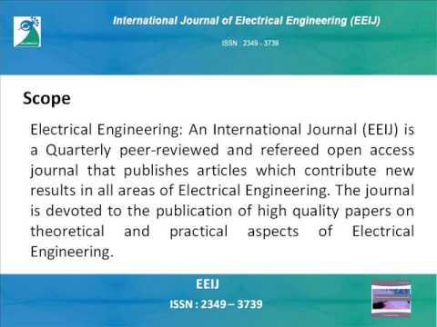 Electrical Engineering: An International Journal (EEIJ)