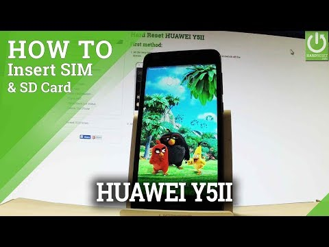 How to Insert SIM & SD in HUAWEI Y5II - Set SIM and SD Card