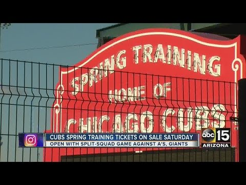 Cubs Spring Training tickets go on sale Friday...with a catch