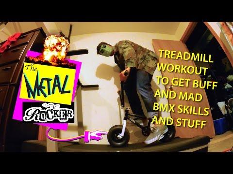 Rocker Mini BMX Treadmill Workout To Get Buff and Mad BMX Skills: Part 1