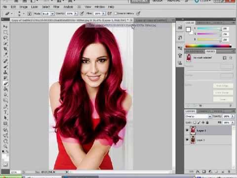 photoshop CS5 hair colour change tutorial