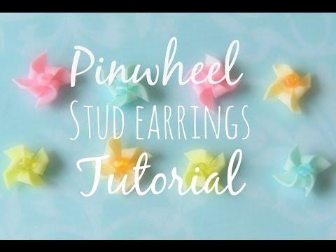 Pinwheel Stud Earrings: Polymer clay tutorial