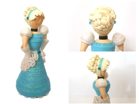 3D Paper Quilled Cinderella Doll