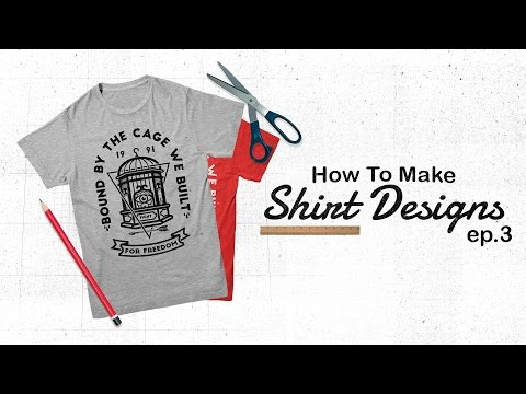 How to make shirt designs - Create your own vectors. (Ep 3) #Illustrator